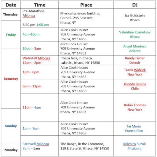event scedule